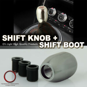 Dodge 08 11 Manual Gear Stick Shift Shifter Knob 5 Speed Red Stitch Leather Boot