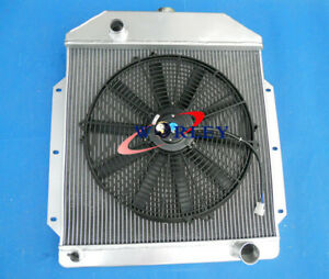 3row Aluminum Radiator Fan For 1949 1953 Ford V8 Cars 1949 1950 1951 1952 1953