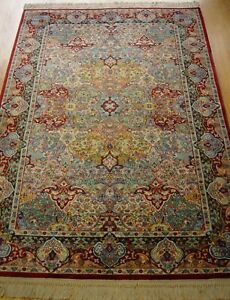 Original America Karastan 790 Pers Ian Panel Wool Rug 5 9 X 9 Hand Cleaned