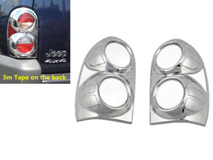 For 2002 2003 2004 2005 2007 Jeep Liberty Chrome Tail Light Covers