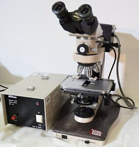 Nikon Labophot 2 Microscope With 5 Objectives Tube Mercury Lamp