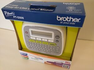 New Sealed Brother P touch Pt d200 Label Printer Maker Home Office Labeler