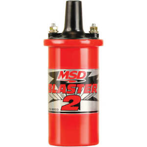 Msd 8203 Blaster 2 Coil With Hardware Hi Performance Ford Chevy Dodge Carb Legal