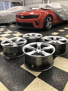Factory Stocked Gm 20 Inch Magnesium Camaro Wheels Will Fit 2010 Current Models