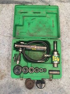 Greenlee 7306 2 Slugbuster Hydraulic Conduit Knockout W 2 1 2 And 3 Extra