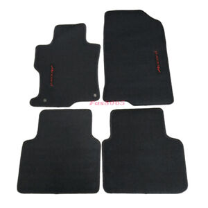 For 08 12 Honda Accord Black Nylon Floor Mats Carpets W Red Accord