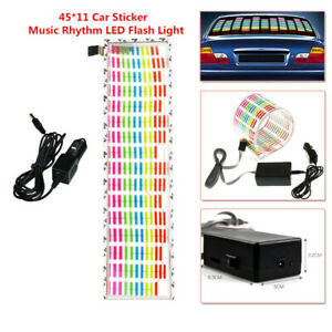 45 11 Car Sticker Music Rhythm Led Flash Light Sound Activated Equalizer Pretty