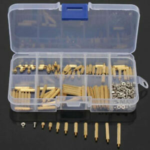 270pcs Male Female Brass Pcb Spacer Standoff Screw Nut Assortment Threaded M2mm