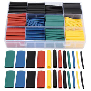 530 Pcs Box 2 1 Heat Shrink Tube Tubing Sleeving Wrap Wire Assorted Kit 8 Size
