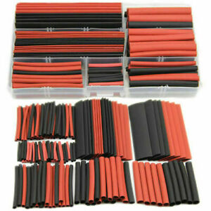150pcs 2 1 Polyolefin Heat Shrink Tubing Tube Sleeving Wrap Wire Kit Cable Sm