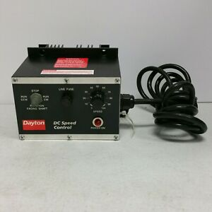 Barely Used Dayton 4z248d 115vac 1 4hp 90vdc Electric Motor Dc Speed Control Box