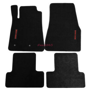 Fits 05 09 Ford Mustang Floor Mats Carpets Nylon Black W red Mustang Embrodery