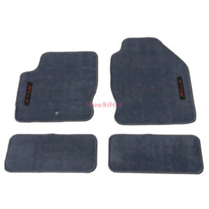 Fits 00 07 Ford Focus Gray Nylon Floor Mats Carpets W Red Focus Embroidery