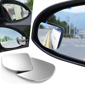 2pcs 360 Wide Angle Convex Stick On Rear Side View Blind Spot Mirror Universal