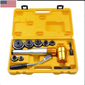 Us 6 Dies 10 Ton Hydraulic Knockout Punch Driver Kit Hand Pump Hole Punch Tool