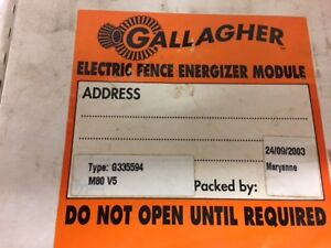 Gallagher Circuit Board Module For M80 V5 Electric Fencer G335594