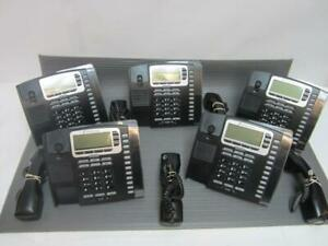 Lot Of 5x Allworx Paetec 9212p Poe Display Ip Phones W stands And Corded Handset