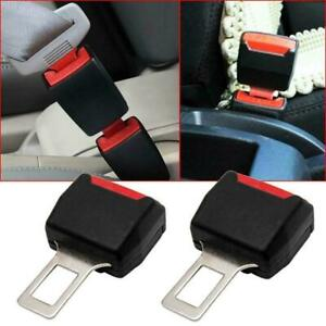 1 Pair Car Suv Safety Seat Belt Buckle Extension Extender Clip Alarm Stopper