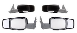 Fits 2009 2010 2011 2012 2013 Dodge Ram 1500 2500 3500 Snap On Tow Mirror Pair