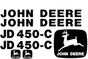 John Deere 450c Crawler Dozer Decals Set Jd Stickers Vinyl 3m 450 c Tractor