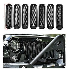 New Mesh Grill Inserts For 2007 2008 2009 2010 2015 Jeep Wrangler 3 5 Doors