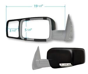 2009 2010 2011 2012 Dodge Ram 1500 2500 3500 New Clip on Towing Mirror Extension