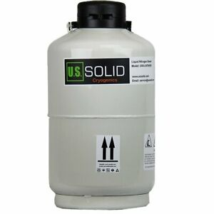U s solid 10l Cryogenic Container Liquid Nitrogen Ln2 Tank Dewar Only