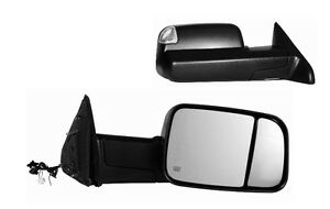 2010 2011 2012 Dodge Ram 1500 2500 3500 Passenger Side Heated Power Tow Mirror