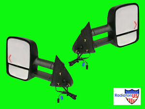 2004 2005 2006 Chevy Gmc Truck Towing Mirrors W Signal Pair Hd Extending New