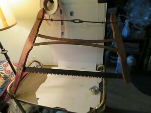 Vintage Buck Bow Saw Crosscut Hand Tool Collectible 30 Blade