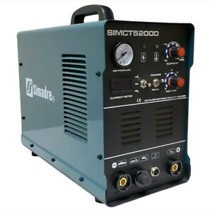 Plasma Cutter 50a Simadre 110 220v 5200d 200a Tig Arc Mma Welder 60a Torch 3in1
