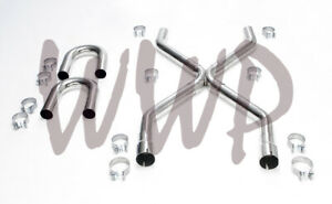 Stainless Steel 2 50 Universal Exhaust Builder X Pipe Tubing Kit Ls Engine Swap