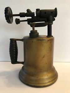 Vintage Brass Blow Torch Gift For Men Man Cave Decorating Idea