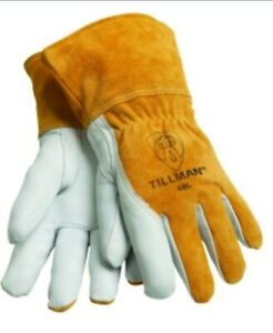 Lot 6 Pair Tillman 48l Top Grain Goatskin cowhide Mig Welding Gloves New