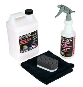 P s Double Black Shine All Performance Dressing 1 Gallon 16oz Tire Trim Kit