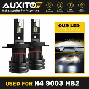 2x Auxito H4 9003 Hb2 Led Headlight Bulb Conversion Kit Hi Lo Beam 6000k 9000lm