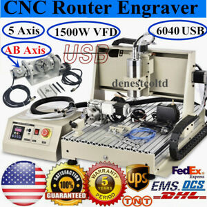 Usb 5 Axis Cnc 6040 Router Engraver 1 5kw Vfd Cutter Engraving Drilling Machine