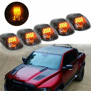 5pcs Set Amber Led Roof Top Cab Marker Lights For 2003 2016 Dodge Ram 2500 3500