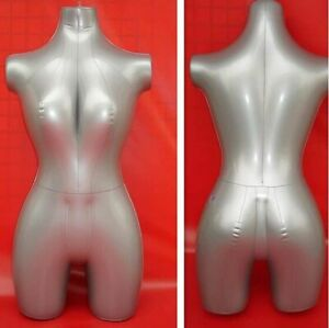 84cm Inflatable Female Mannequin Torso Women Model Clothes Upper Body Display