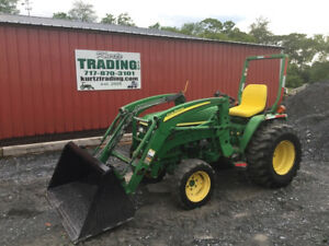 2009 John Deere 3005 4x4 Diesel Compact Tractor W Loader Only 1100 Hours