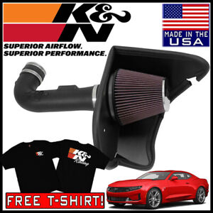 K N Aircharger Cold Air Intake System 2016 2019 Chevy Camaro 3 6l V6