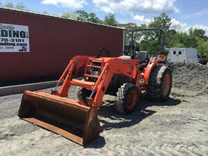 2006 Kubota L3830 4x4 Hydro Compact Tractor W Loader Only 1700 Hrs