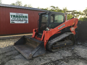 2016 Kubota Svl95 2 Compact Track Skid Steer Loader W Cab High Flow Only 700hrs