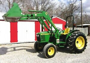 John Deere 5105 With Jd 521 Loader Bucket free Shipping 1000 Miles