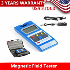 Field Tester W Ns Function Wt10a Tesla Meter Surface Lcd Gaussmeter Magnetic Hq