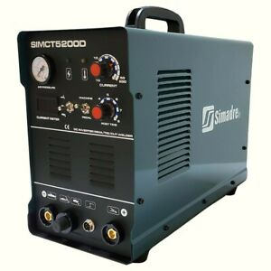 Plasma Cutter 3in1 50a Simadre 110 220v 5200d 200a Tig Arc Mma Welder New