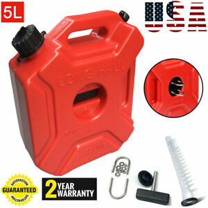 1 3gallon 5l Jerry Can Gas Fuel Tank Petrol Motorcycle car Storage Container Us