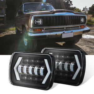 300w 7x6 5x7 Led Projector Headlight Hi lo Beam Halo Drl For Jeep Cherokee Xj