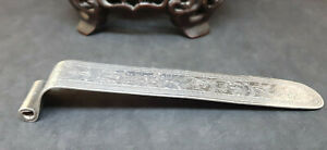 Antique Solid Silver Chinese Export Book Mark 29 4 G