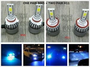 9005 h11 h11 Led Headlights High low Beam Fog Lights 8000k Ice Blue 55w 8000lm